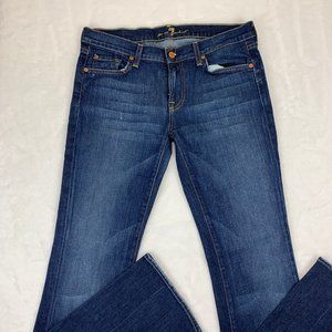 7 For All Mankind Bootcut Blue Women Jeans Size 30
